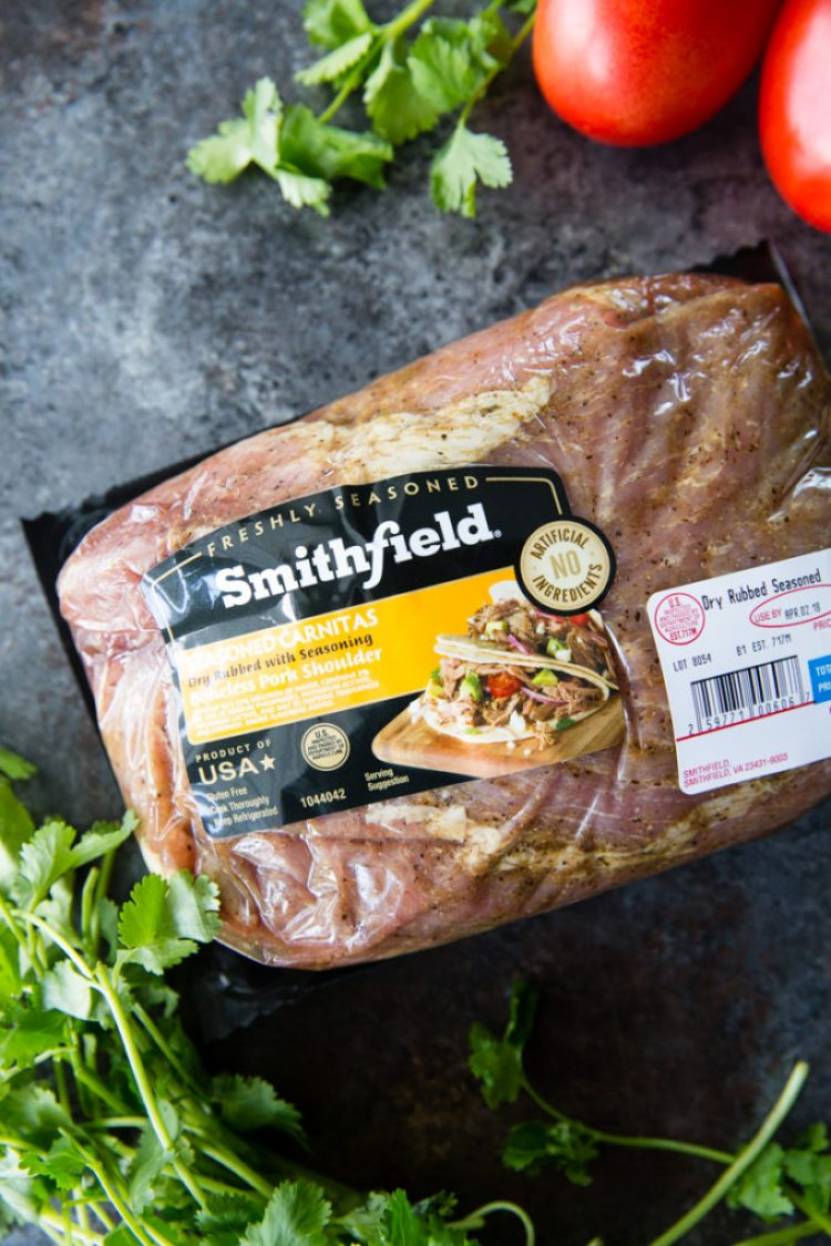 Smithfield Carnitas packaging
