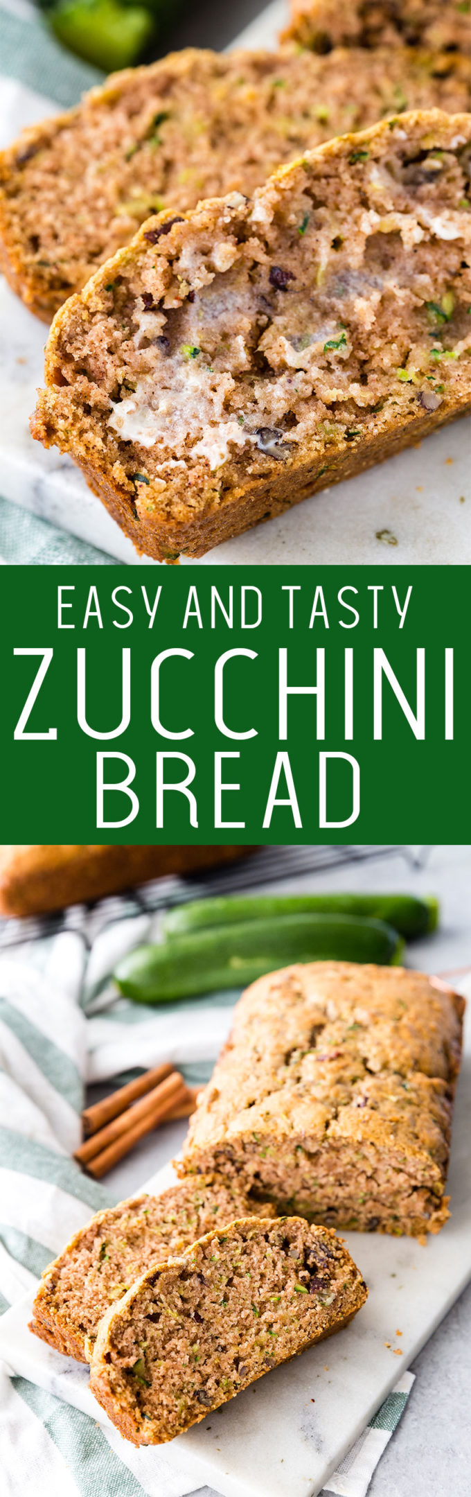 Easy zucchini bread packed with flavor, the perfect recipe