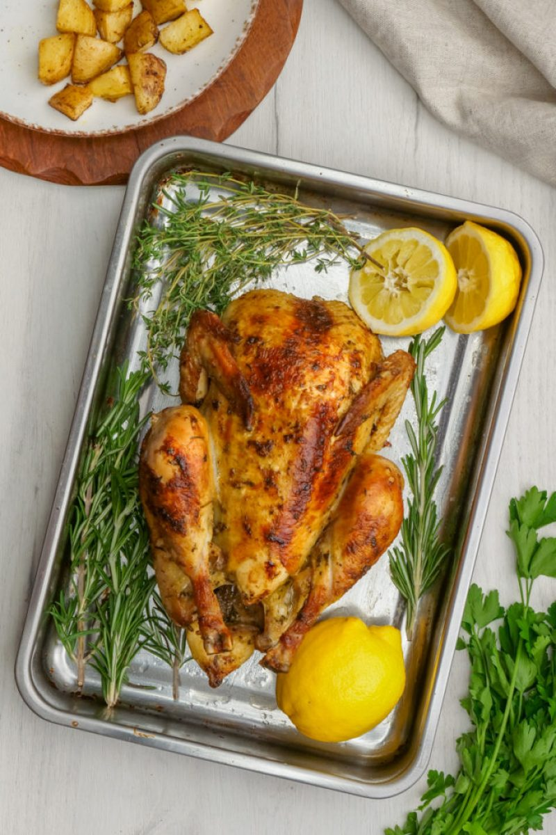 Deliciously roasted chicken