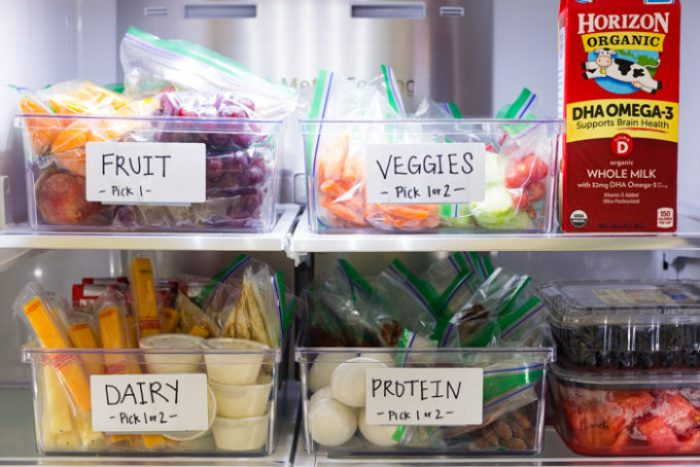 Filling your fridge with organic options for back to school lunches