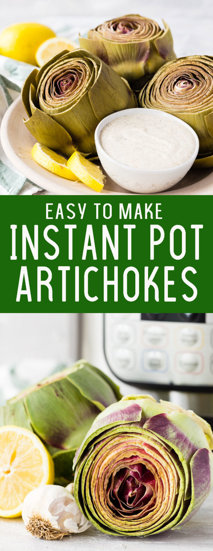 No more pots of boiling water, make artichokes in your Instant Pot for a quick and easy pressure cooker side.