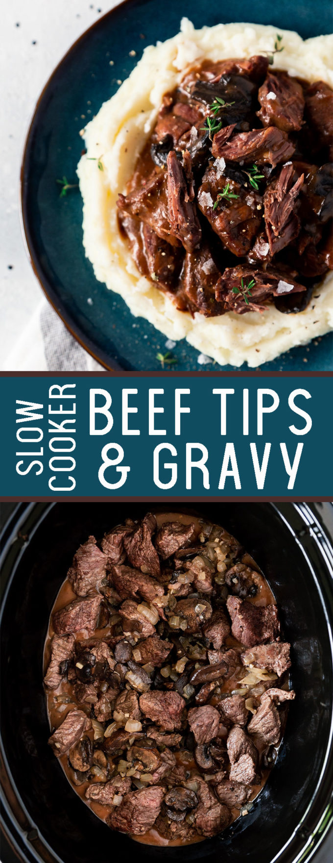 A delicious slow cooker beef tips and gravy. A tasty onion gravy that is absolutely delicious.