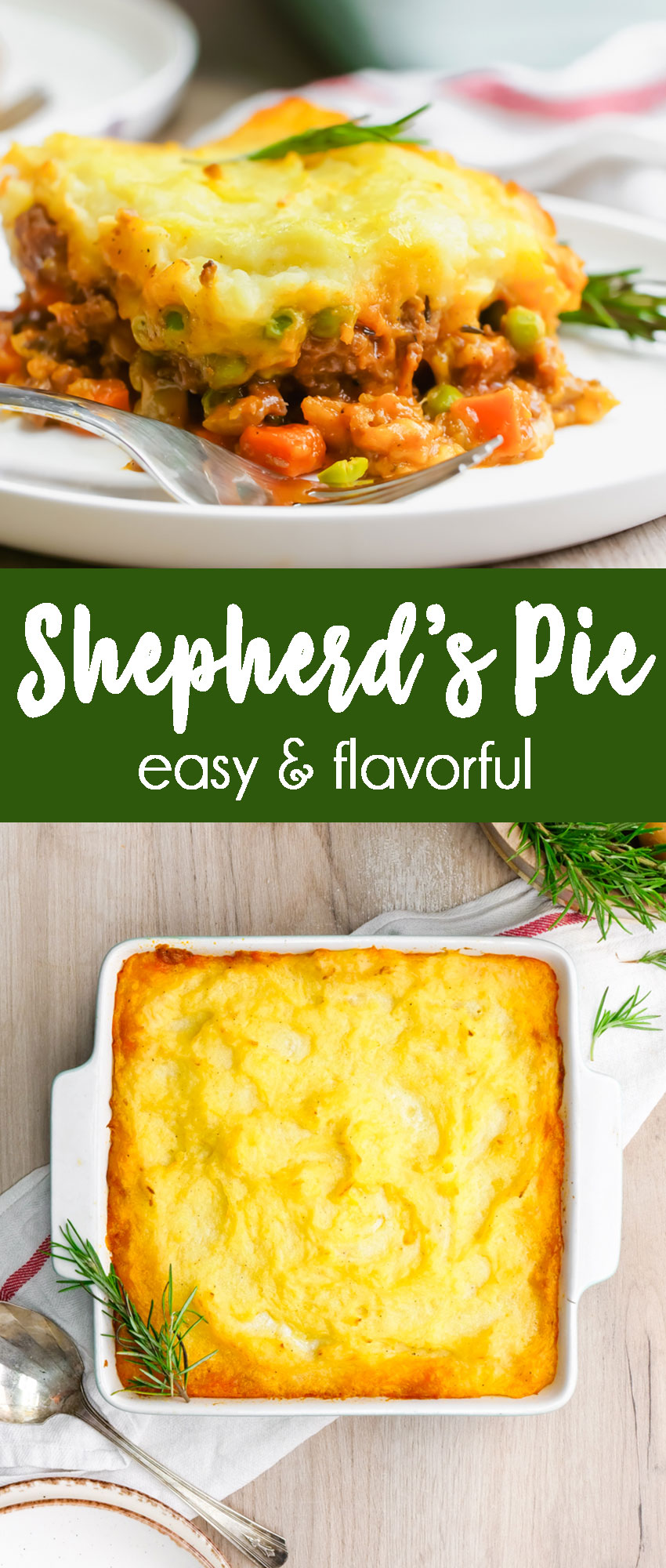 Shepherd's Pie, a meat pie with mashed potatoes