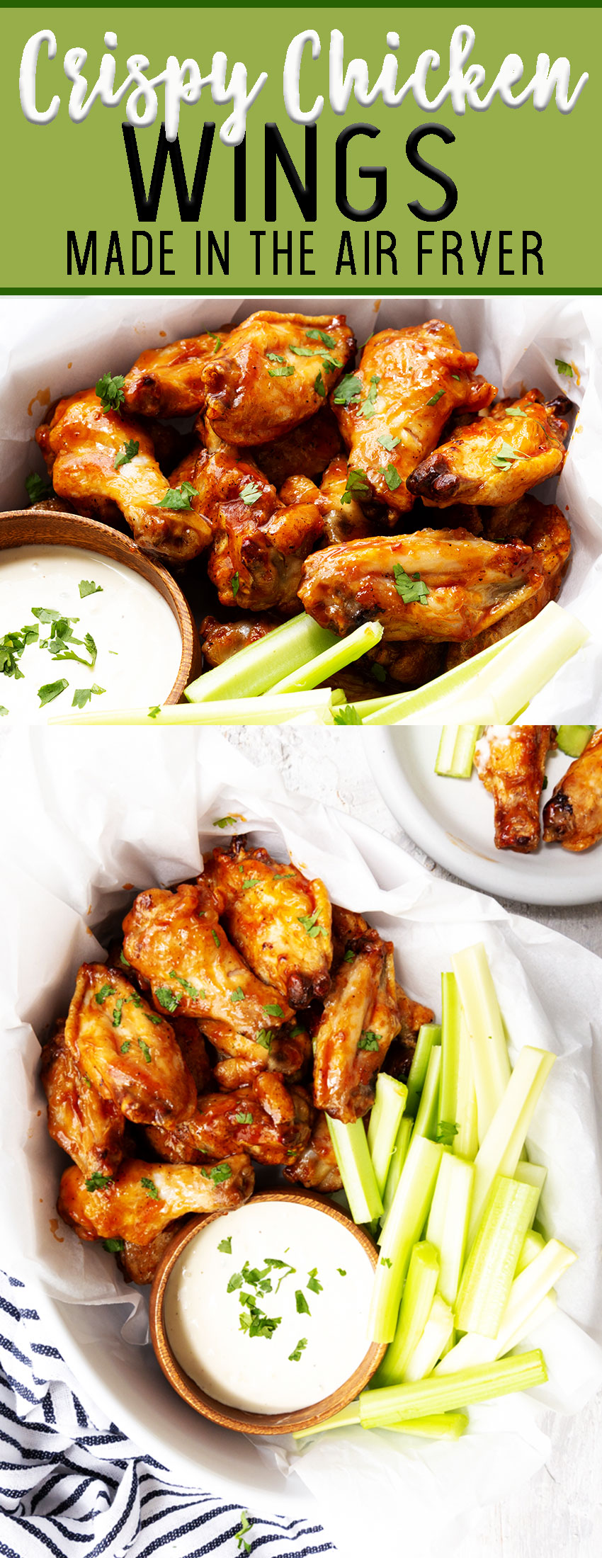 air fryer chicken wings cook time