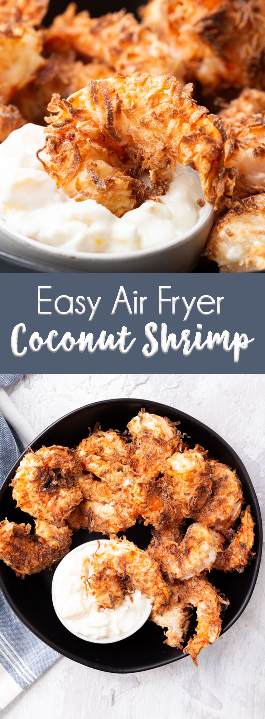easy air fryer coconut shrimp