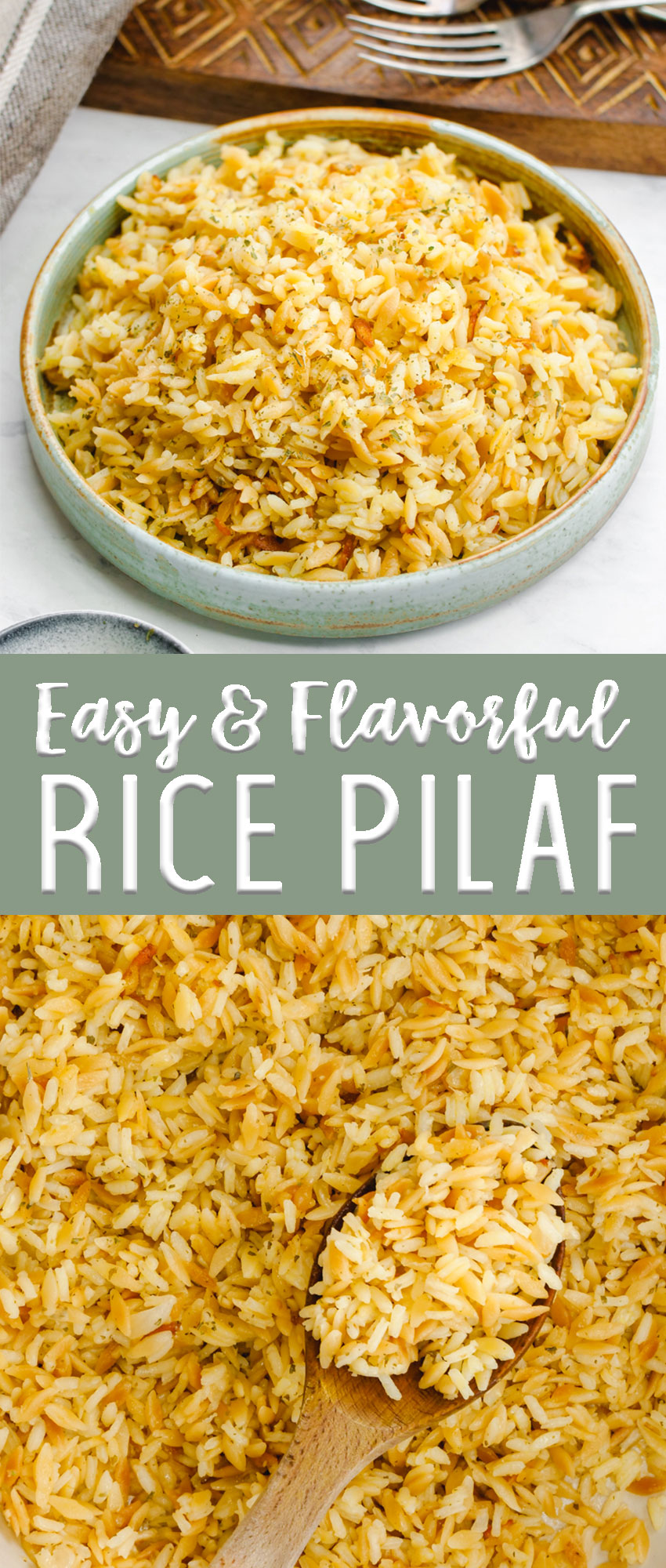 Easy rice pilaf makes the perfect side dish for any meal