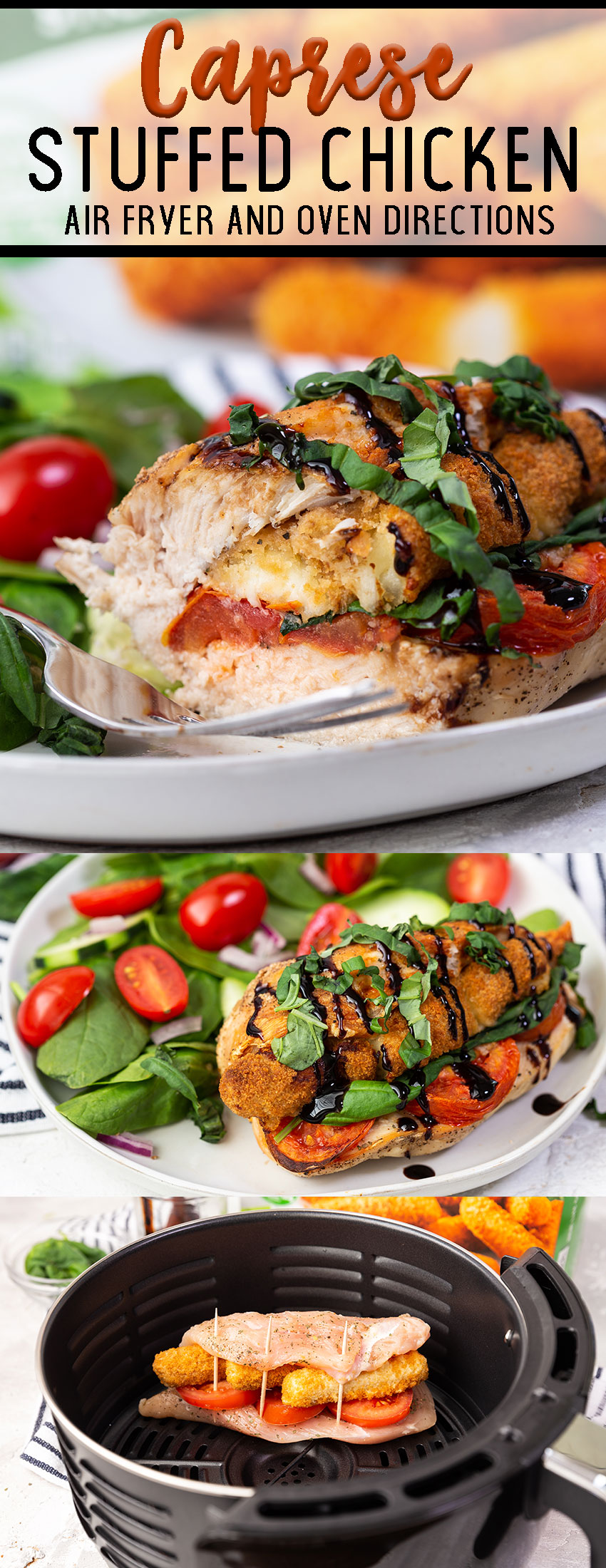Caprese stuffed chicken breasts