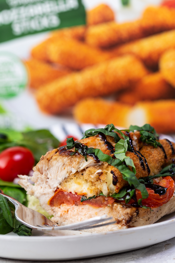 Caprese air fryer stuffed chicken breasts