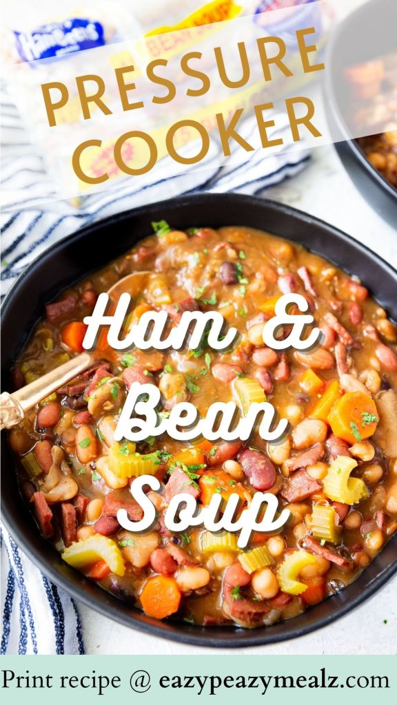 Ham and Bean Soup: delicious and cooked in the pressure cooker