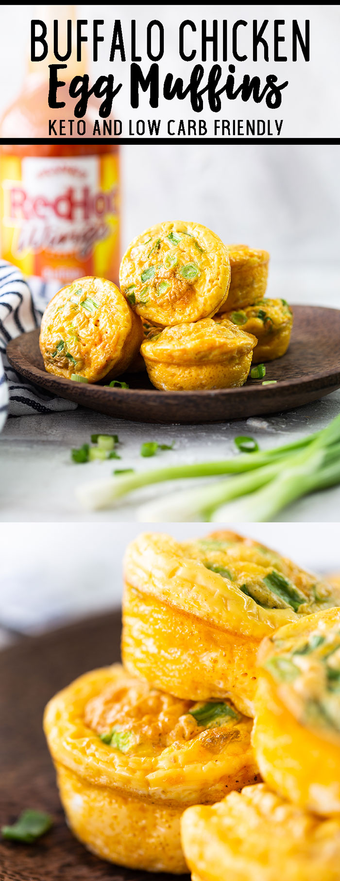 Buffalo chicken egg muffins or egg cups a great breakfast alternative.