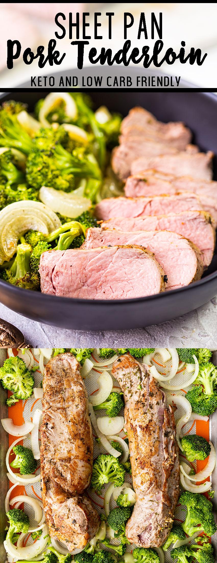 Sheet pan pork tenderloin with vegetables