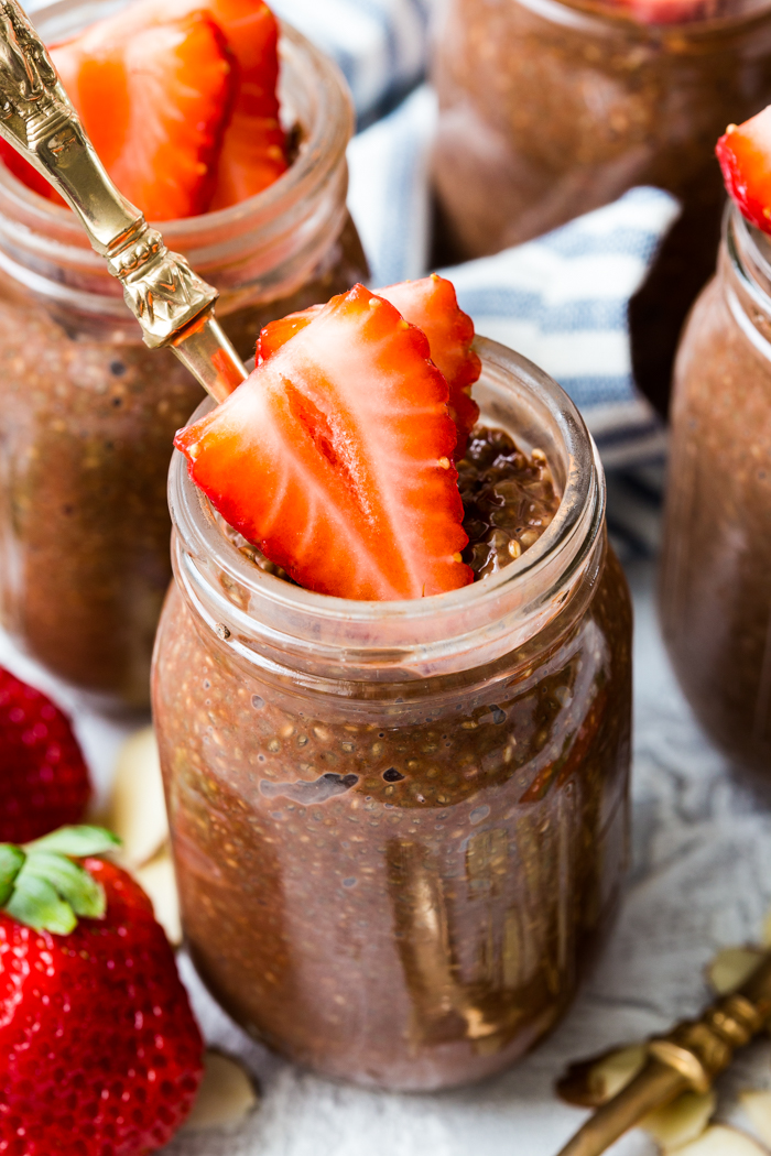 Chocolate chia seed pudding.