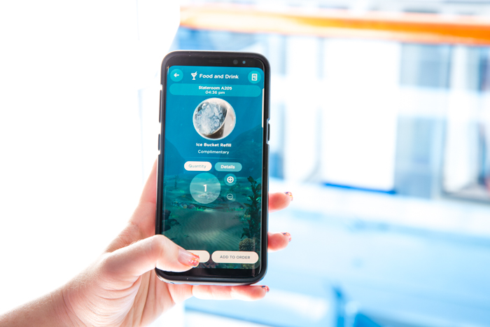 Ocean Now app open on a phone for Princess Cruises