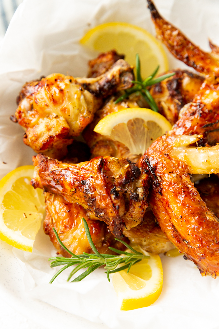 Lemon rosemary chicken wings