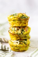 a stack of egg muffins with sun dried tomato