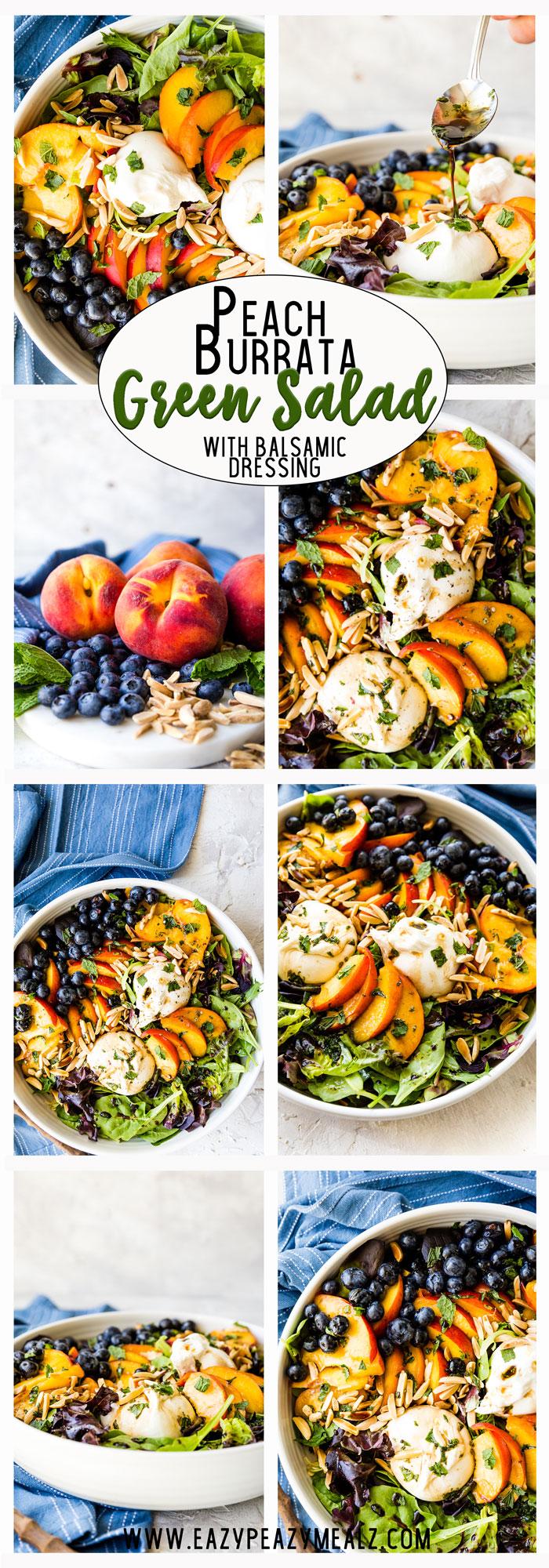Peach Burrata Salad Easy Peasy Meals