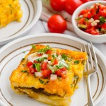 Baked chiles rellenos