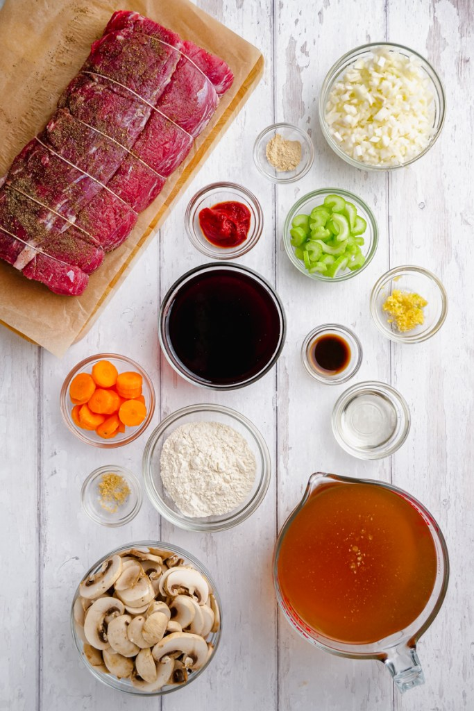 ingredients to classic roast beef