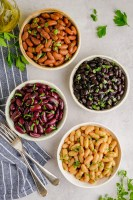 4 types of beans made in the instant pot