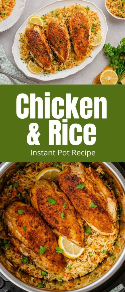 dinner idea: instant pot chicken and rice is SO Good!