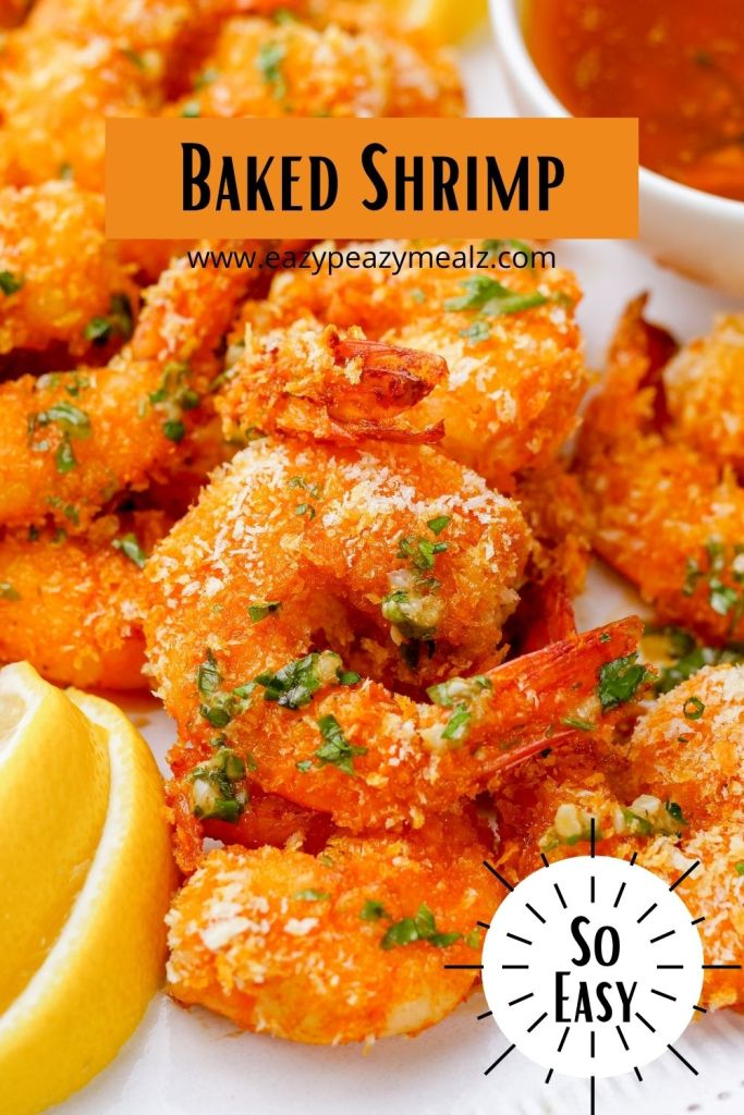 The easiest, most delicious breaded and oven baked shrimp I have ever had. Comes together in under 20 minutes. Yum!