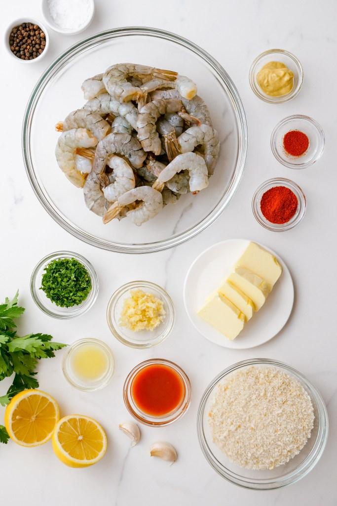 Everything you need to make crispy oven baked shrimp