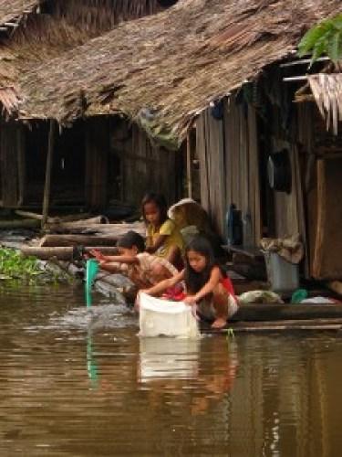 Manobo Girls Washing Clothes