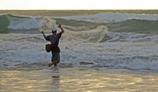 Fisherman at Mindoro Beach