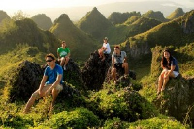 Summit of Osmeña Peak with Travel Bloggers