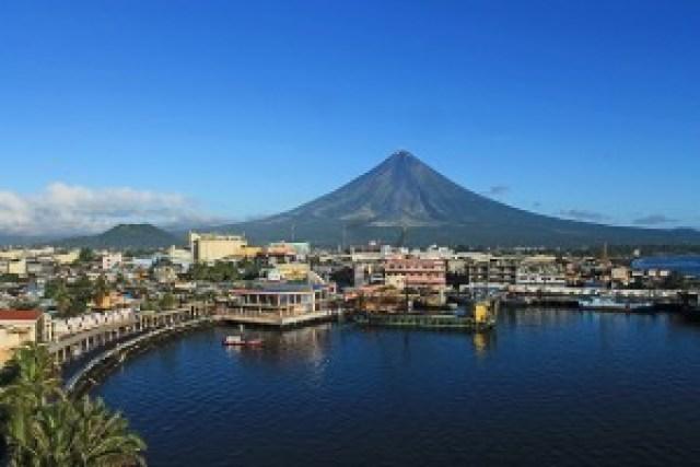 Mt. Mayon from Embarcadero de Legazpi