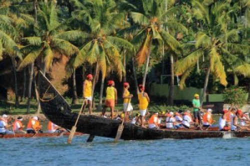 Snakeboat Race on Ashtamudi Lake
