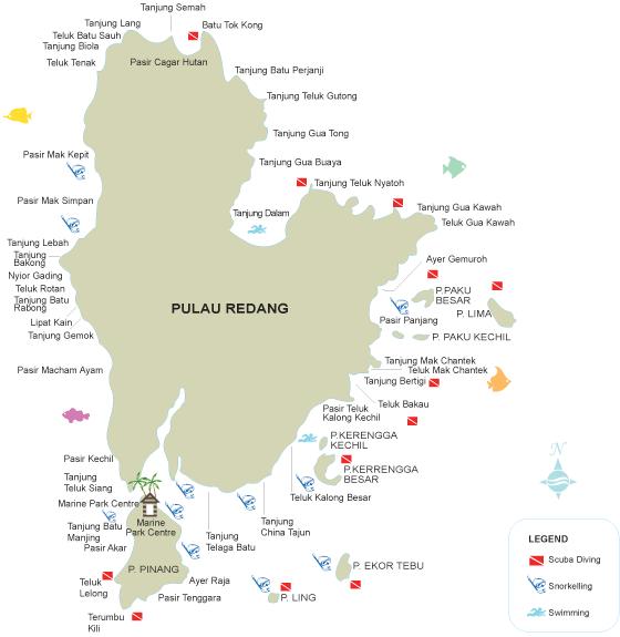 Redang Archipelago Map