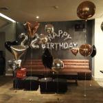 סידור בלונים ליום הולדת 22