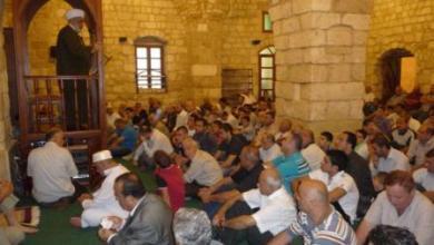 صورة المفتي في جامع برجا الكبير : العيد يوم النصر
