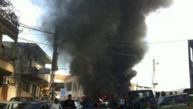 صورة تظاهرة أمام بلدية برجا … هل هي الشرارة الأولى ؟