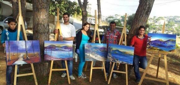 الفنان سعد والفنانة رانيا وفراس الغوش وخضر سرور