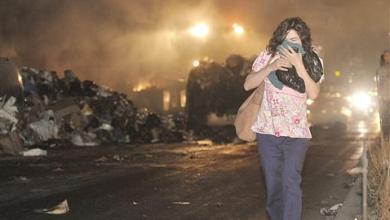 صورة بيروت والمناطق بين دخان الحرائق.. والاعتراضات الشعبية