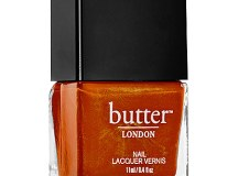 Burnt orange inspired by the changing leaves but with a metallic finish.