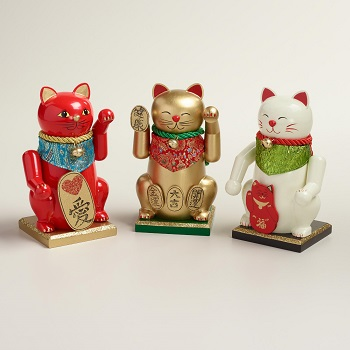 Lucky Cat Nutcrackers