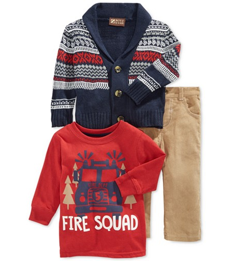 Boys Sweater Corduroy Set