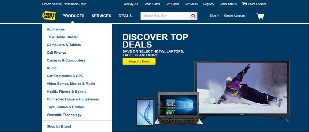 Best Buy Homepage