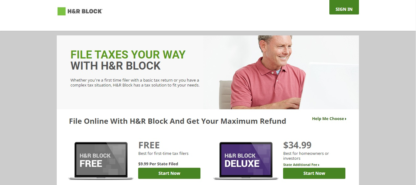 H&R Block Homepage