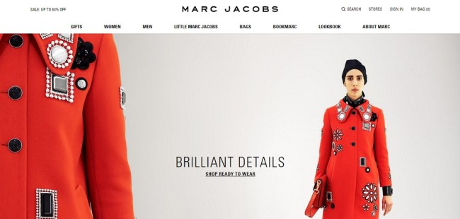 Marc Jacobs Homepage