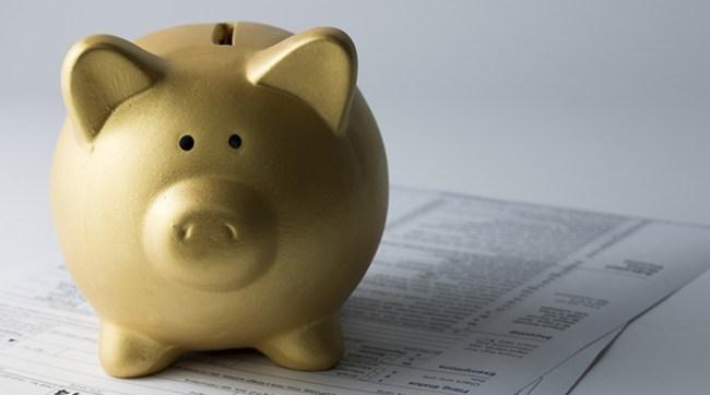 Gold Piggy Bank Tax Forms