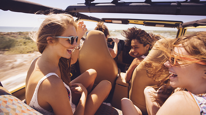 Four Women in a Car