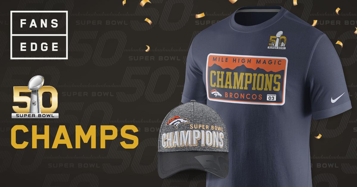 FansEdge Broncos Super Bowl