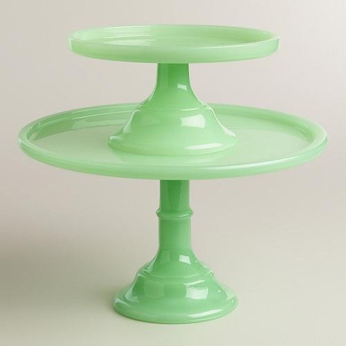 Jade Glass Cupcake Stand