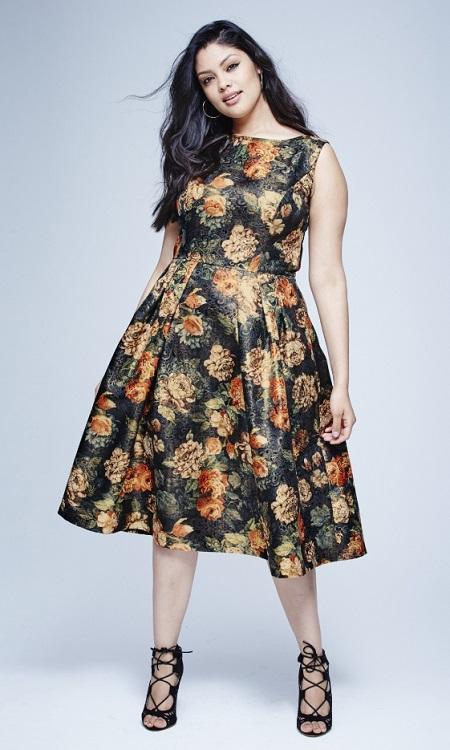 Chi Chi Floral Brocade Dress