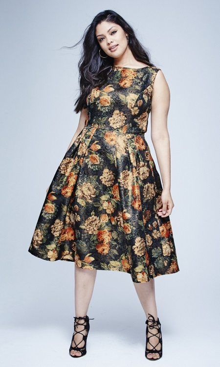 Chi Chi Floral Brocade Dress