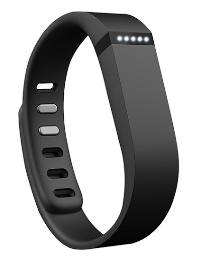 Black Fitbit Flex fitness tracker wearable